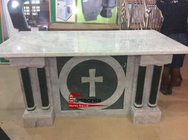 Marbles and Granite Pulpit | Samsonite Homes Nig Ltd